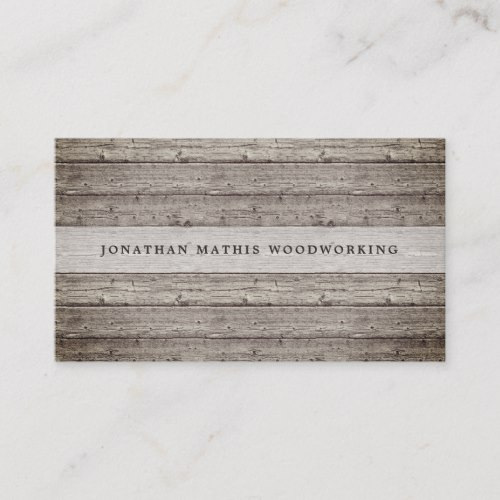 Vintage Reclaimed Wood Business Card Driftwood 4 Us