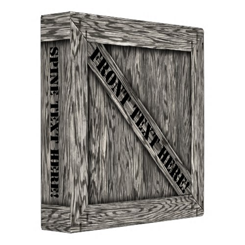That's just Crate! - Driftwood - 3 Ring Binder