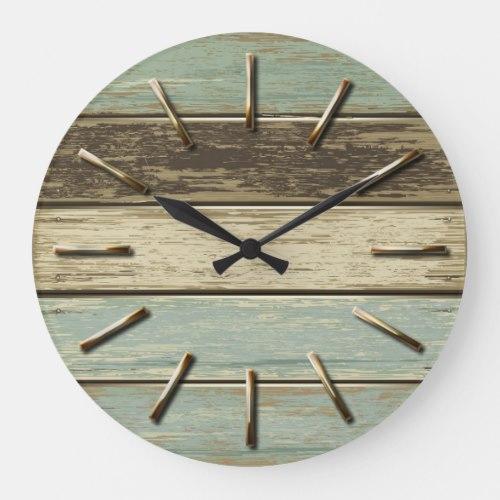 Driftwood 5 Wall Clock