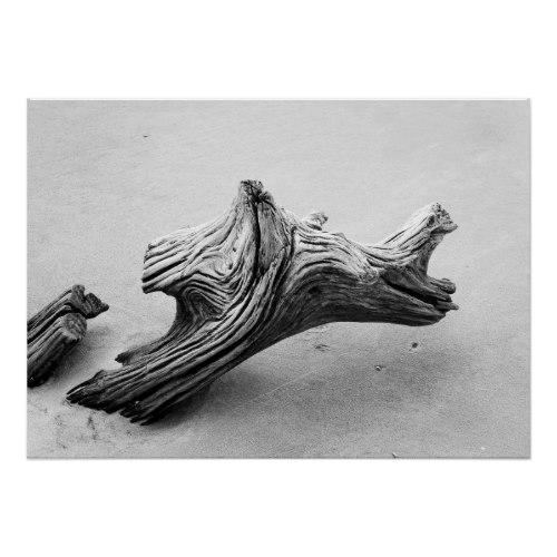 Driftwood Rhino Poster