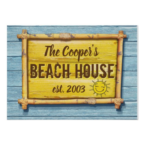 Driftwood Beach House family sign poster 2
