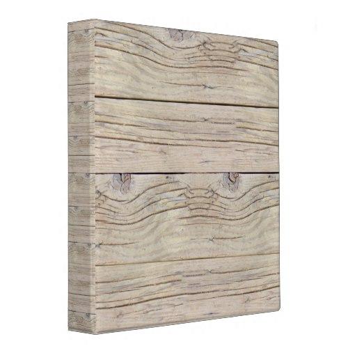 Driftwood Background 3 Ring Binder