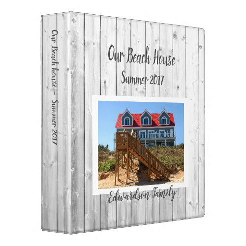 Make your own beach summer house own photo 3 ring binder