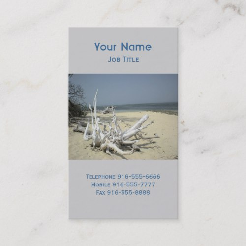 Bleached Driftwood Business Cards