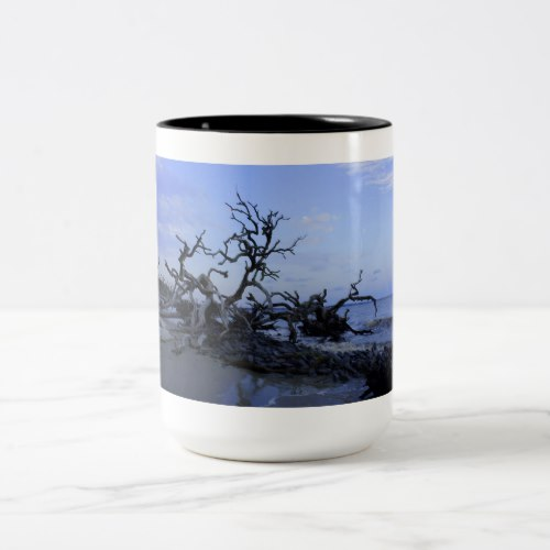 Driftwood Sunset Two-Tone Coffee Mug
