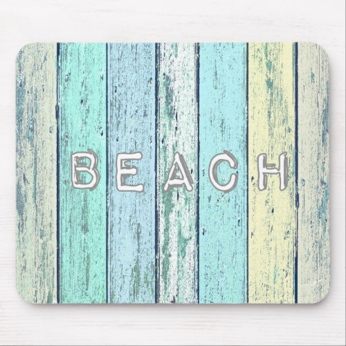 Rustic Beach Driftwood Mouse Pad